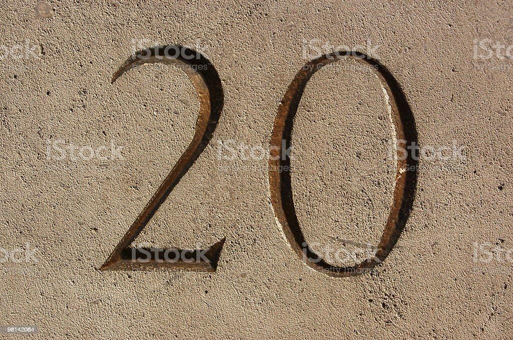Numero 20 foto stock royalty-free