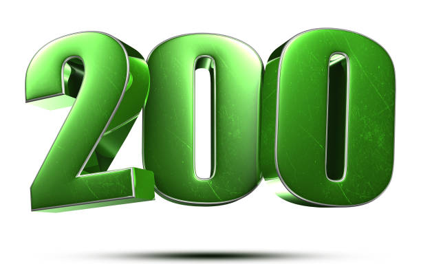 Number 200 3d. stock photo