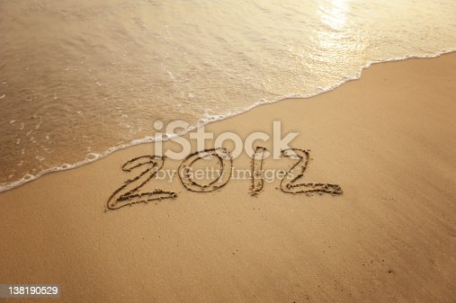 istock number 2012 on the beach of sunrise 138190529