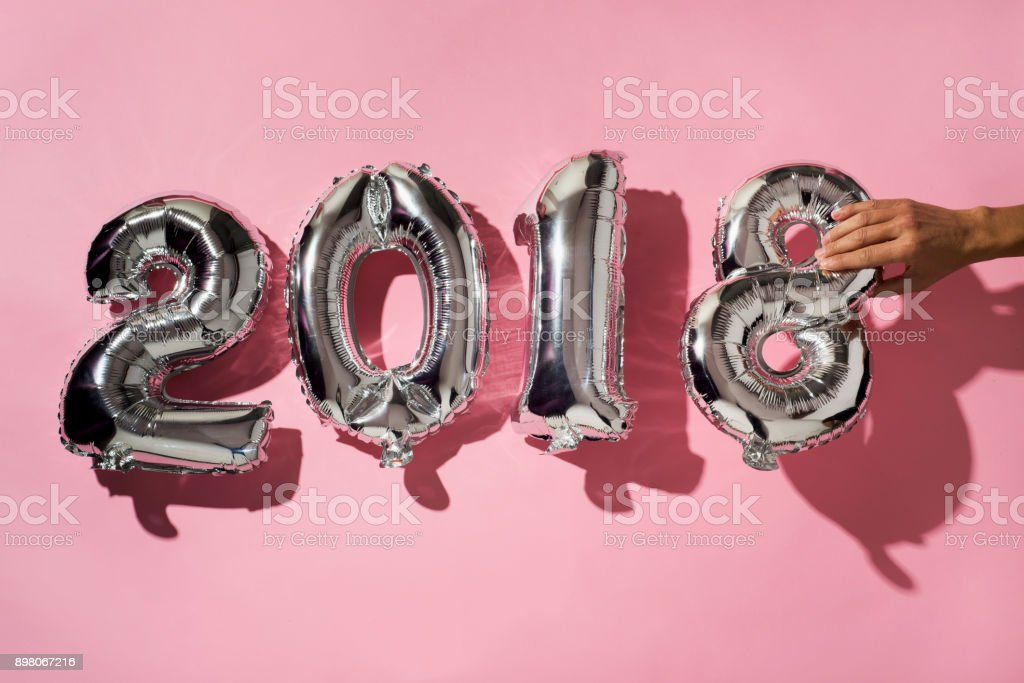 number 2018, as the new year stock photo