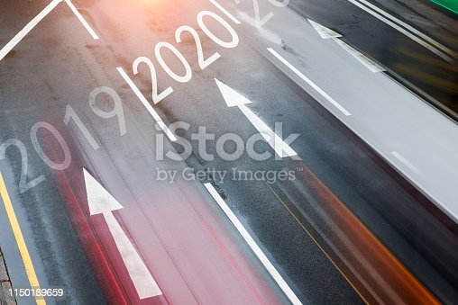 1150191246 istock photo Number 2019, 2020, 2021 on city street 1150189659