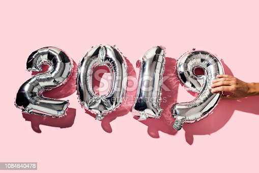istock number 2019, as the new year 1084640478