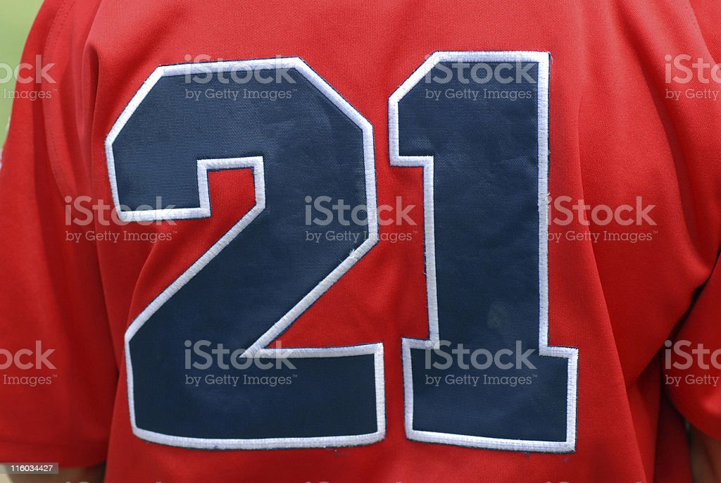 Number 21 royalty-free stock photo