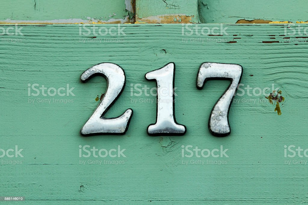 Number 217 stock photo