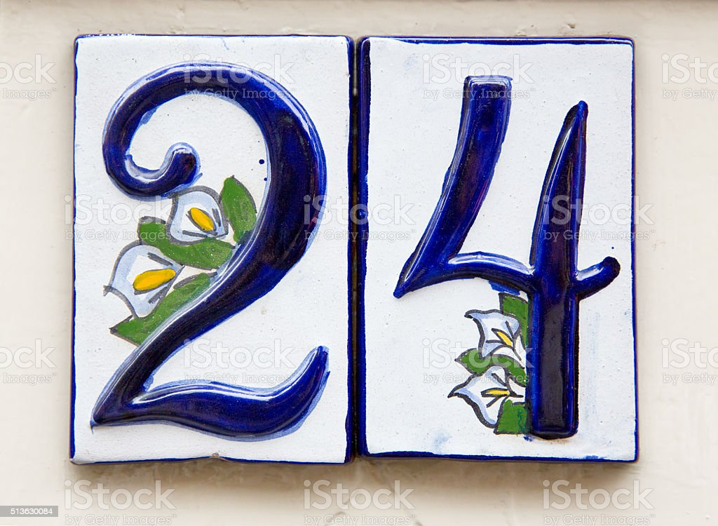 Number 24 stock photo