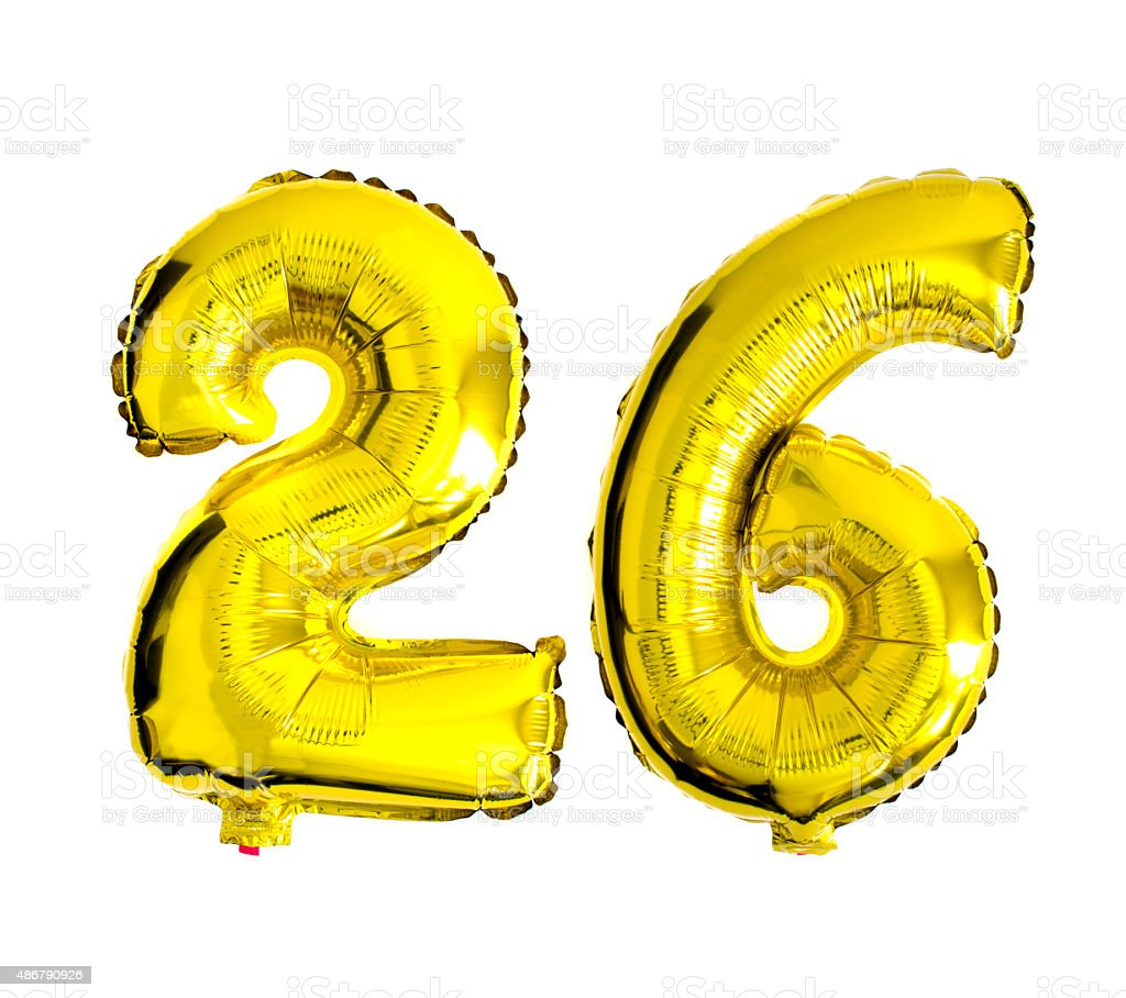 number 26 written with foil balloons stock photo   more clip art balloons and streamers clip art balloons house