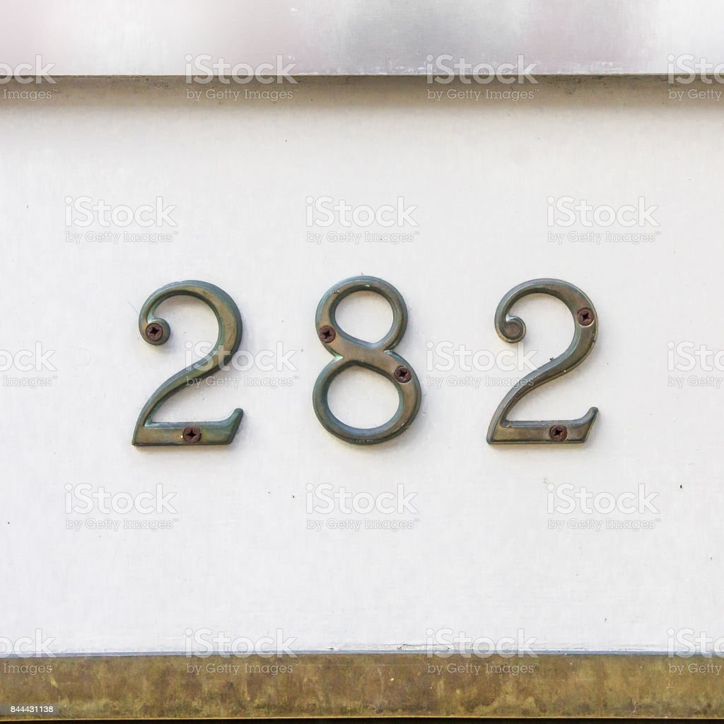 Number 282 stock photo