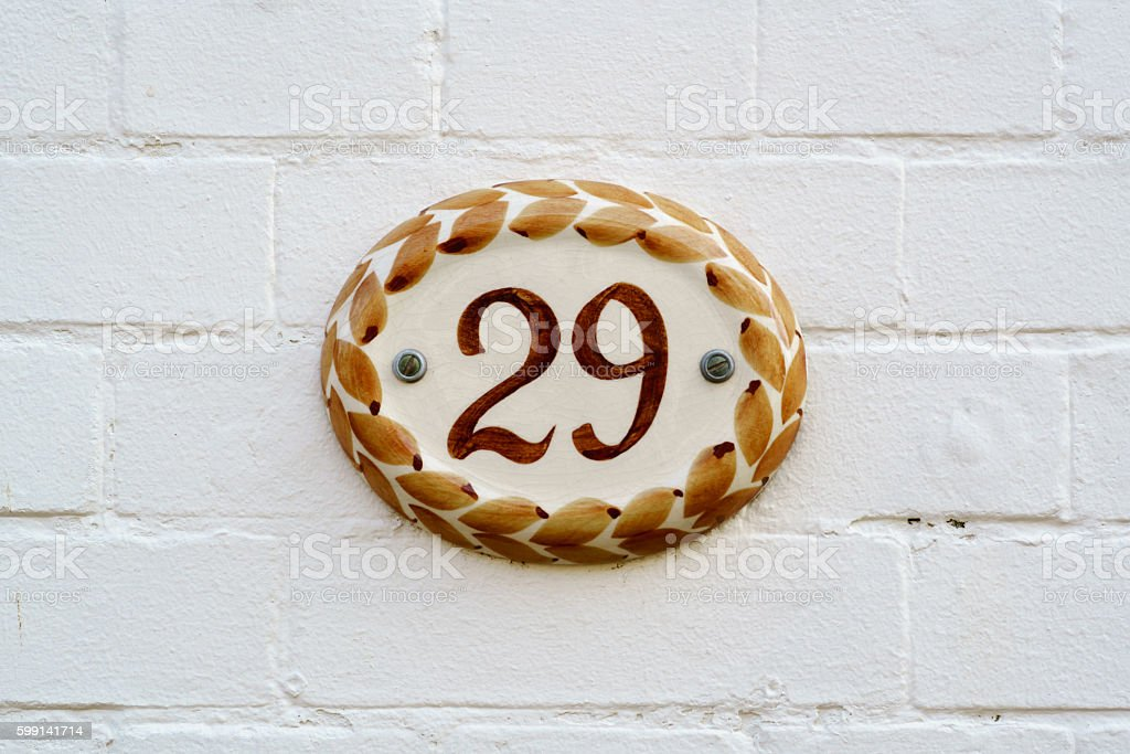 Number 29 stock photo