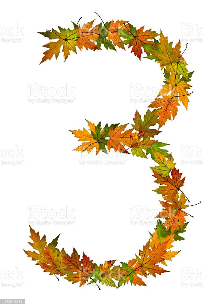 Number 3 royalty-free stock photo