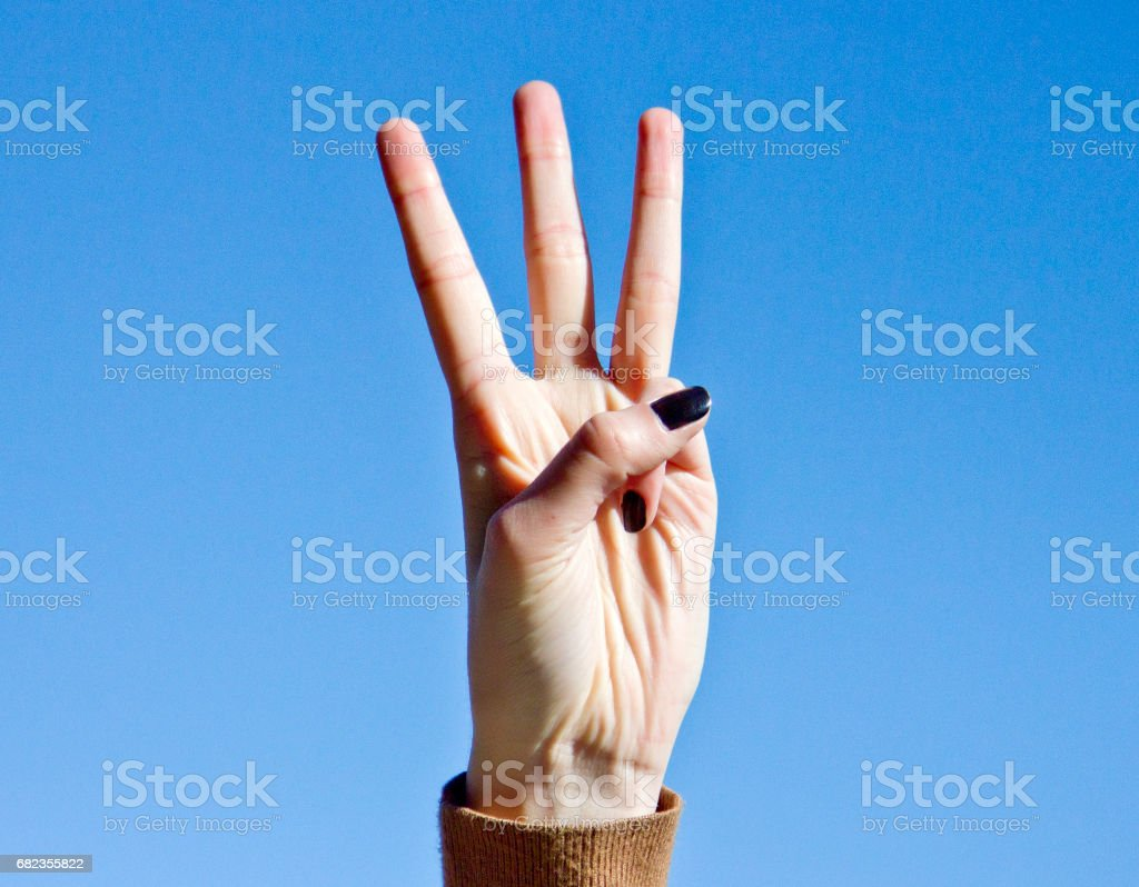Number 3 foto stock royalty-free