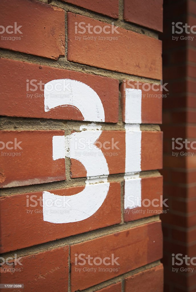 number 31 royalty-free stock photo