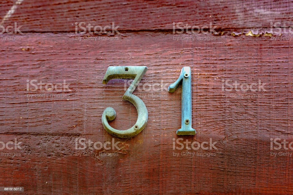 number 31 stock photo