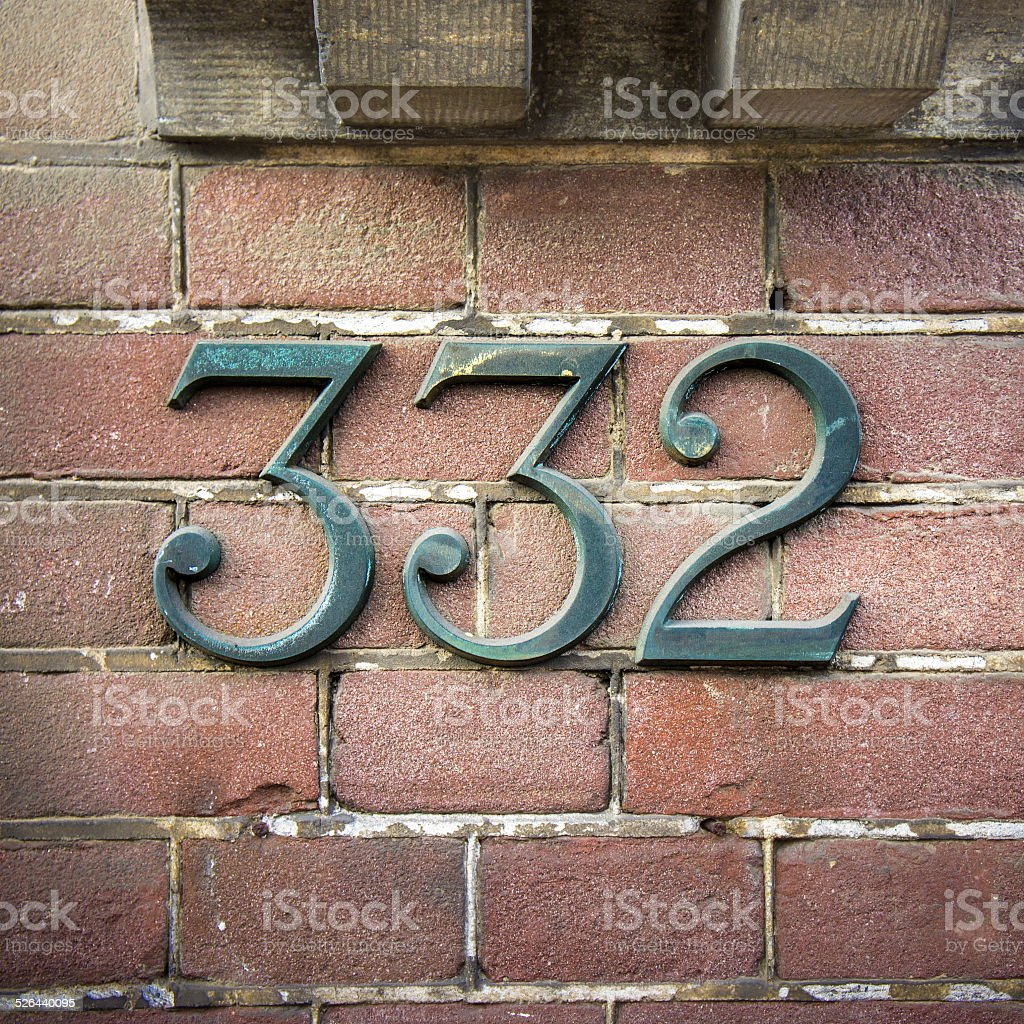 number 332 stock photo