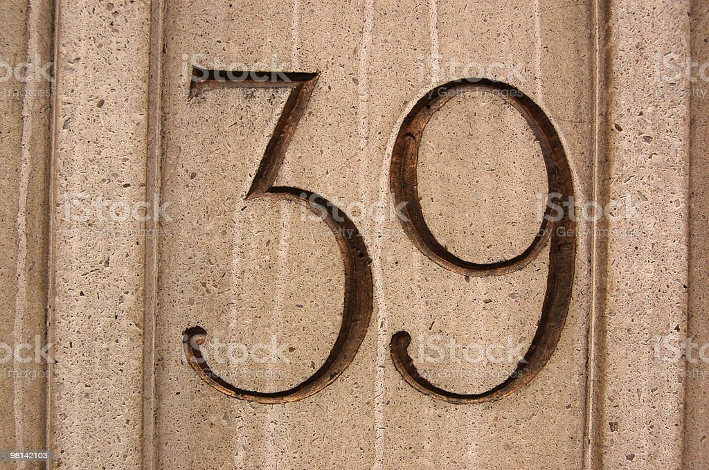 Number 39 royalty-free stock photo