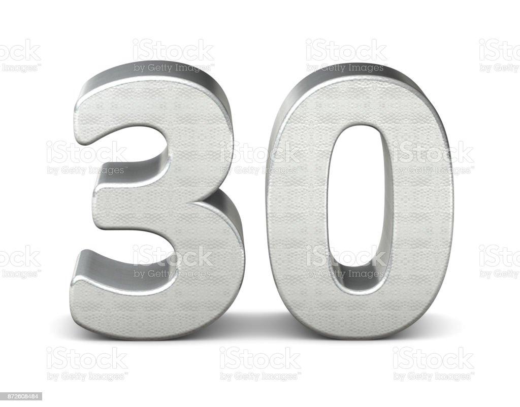 30 数 3 d シルバー構造 3 d レンダリング - 30-34歳のロイヤリティフリーストックフォト