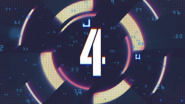 Number 4, Number Four Number 4 background footage day 4 stock pictures, royalty-free photos & images