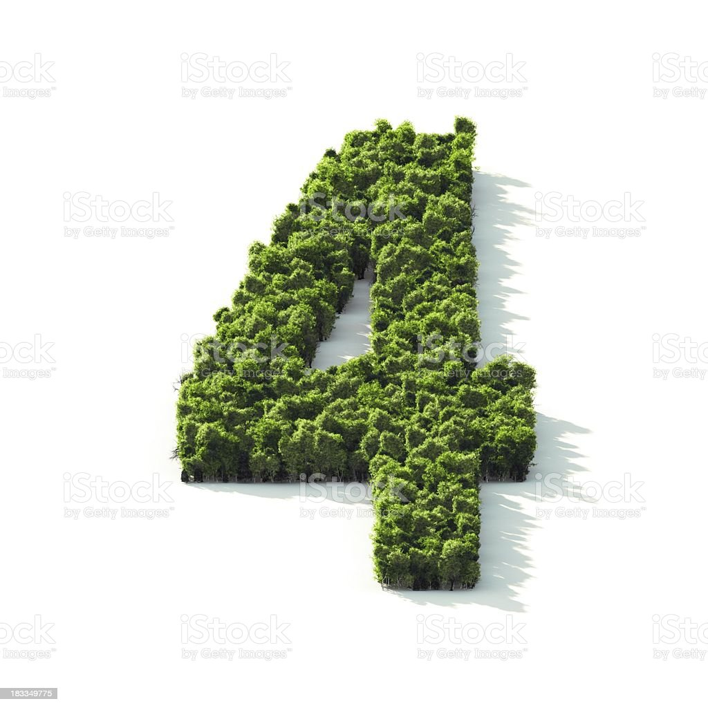 Number 4: Perspective View royalty-free stock photo
