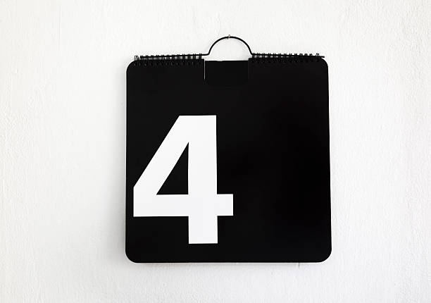 Number 4 Fourth day of the month day 4 stock pictures, royalty-free photos & images