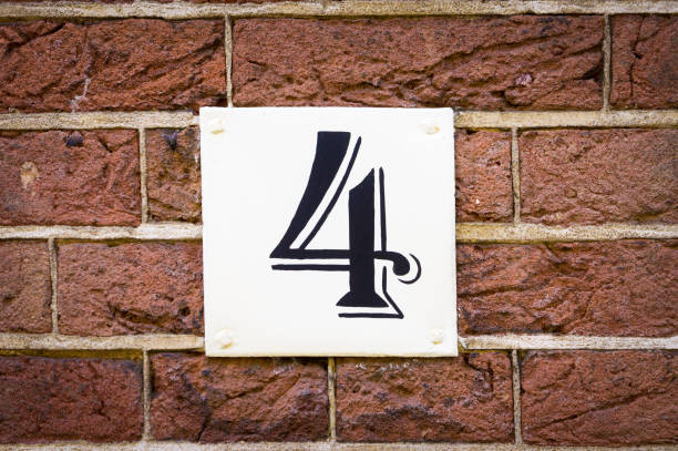 Number 4 House number four (4) number 4 stock pictures, royalty-free photos & images