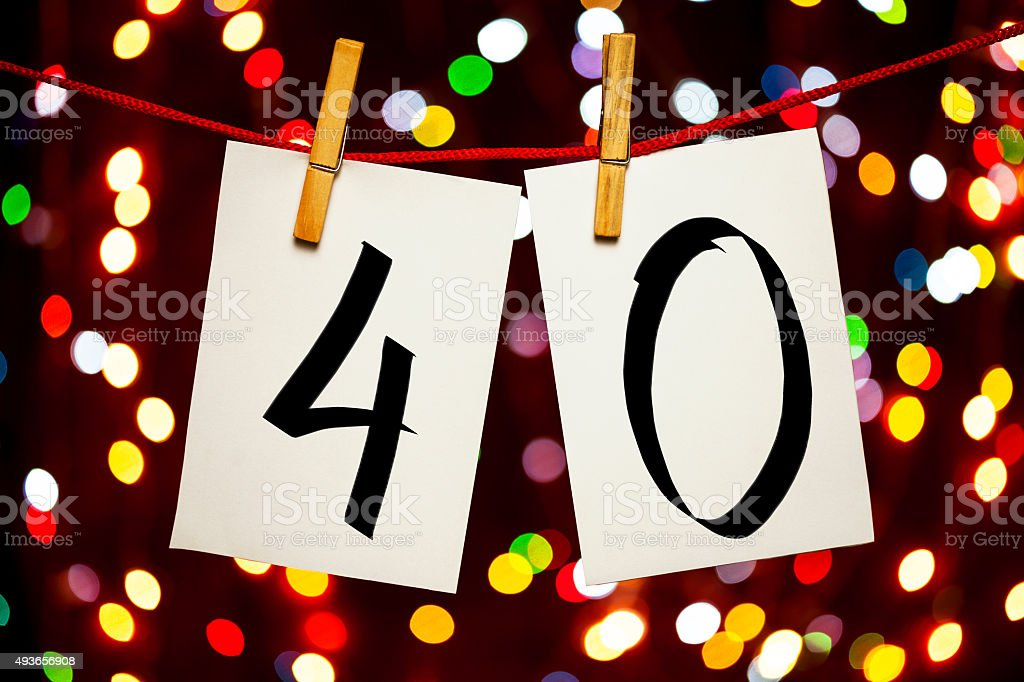 Number 40 stock photo