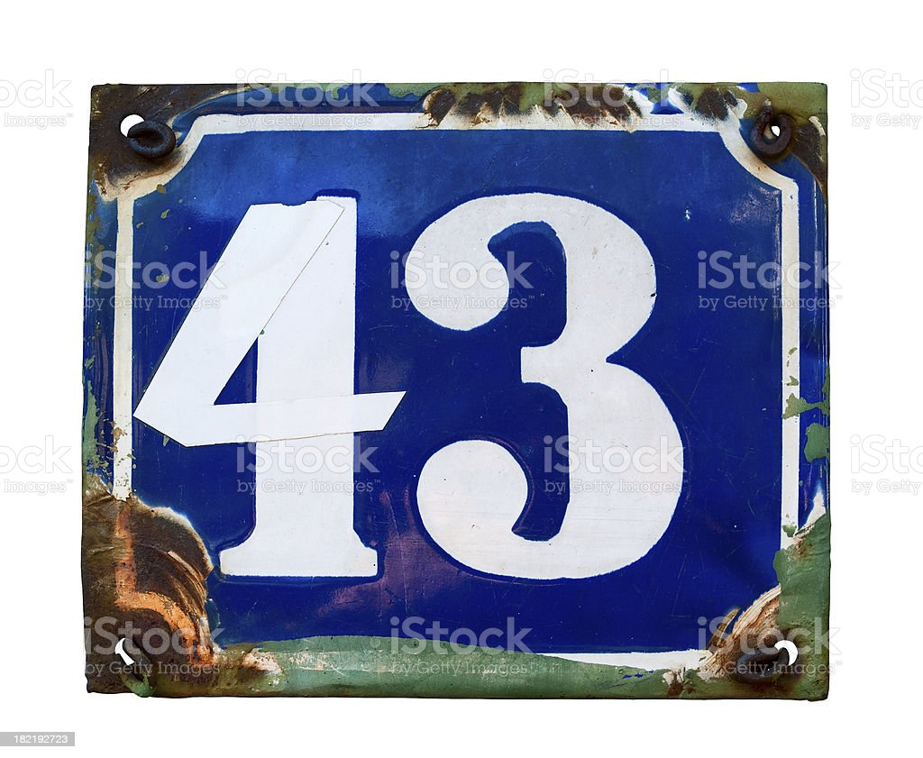 Number 43 royalty-free stock photo