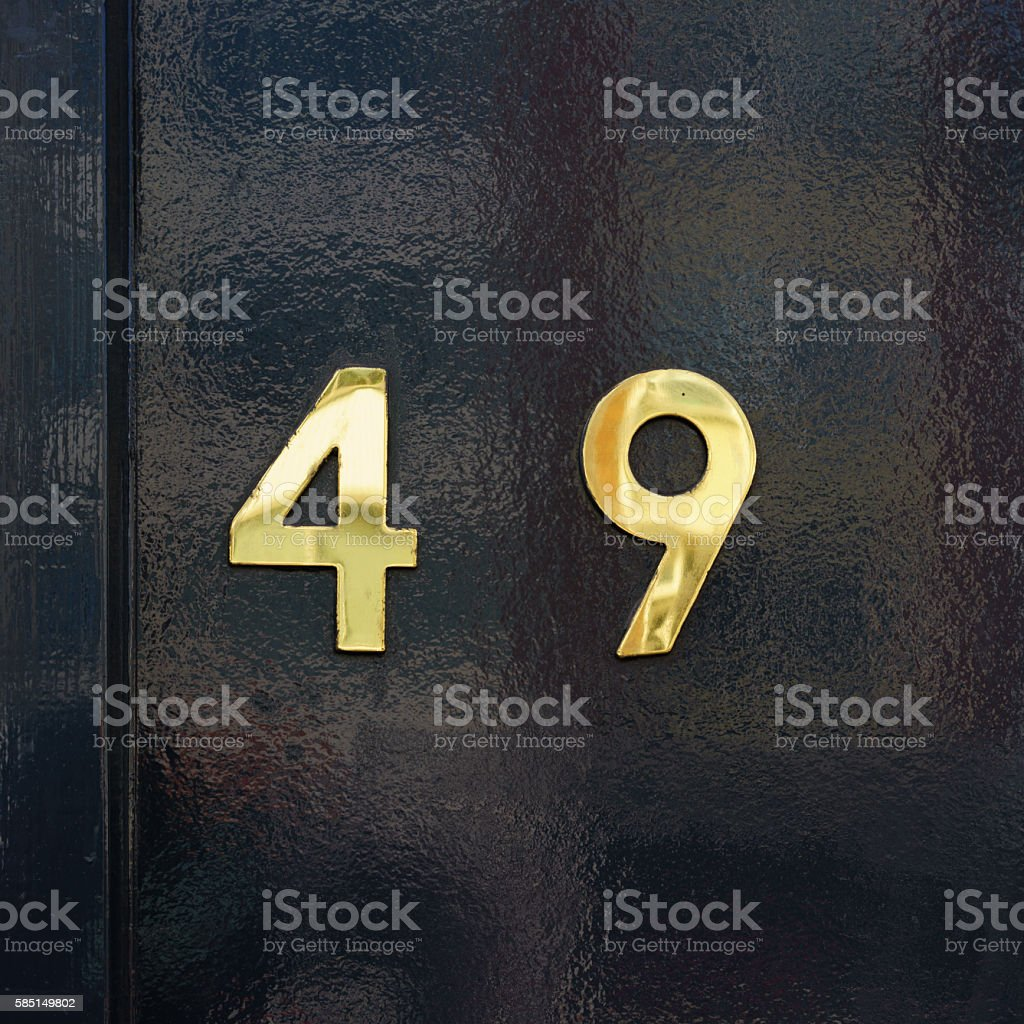Number 49 stock photo