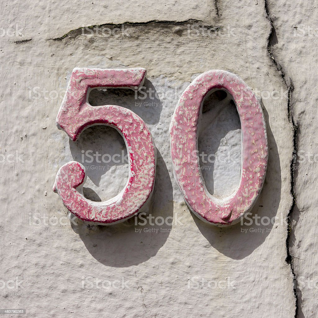 Number 50 stock photo