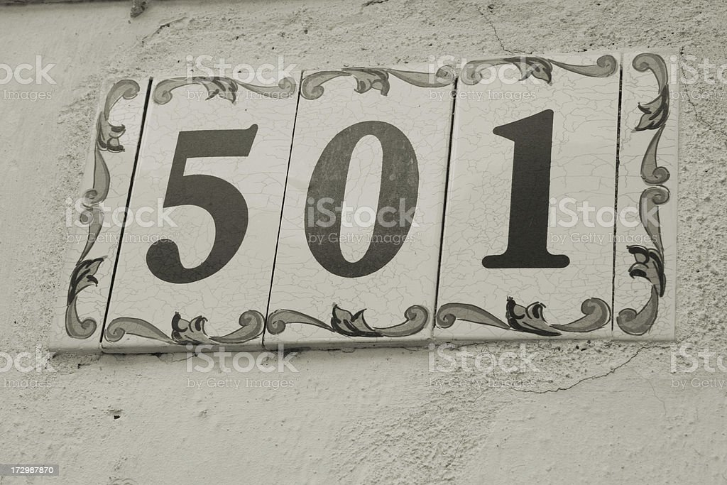 Number 501 royalty-free stock photo