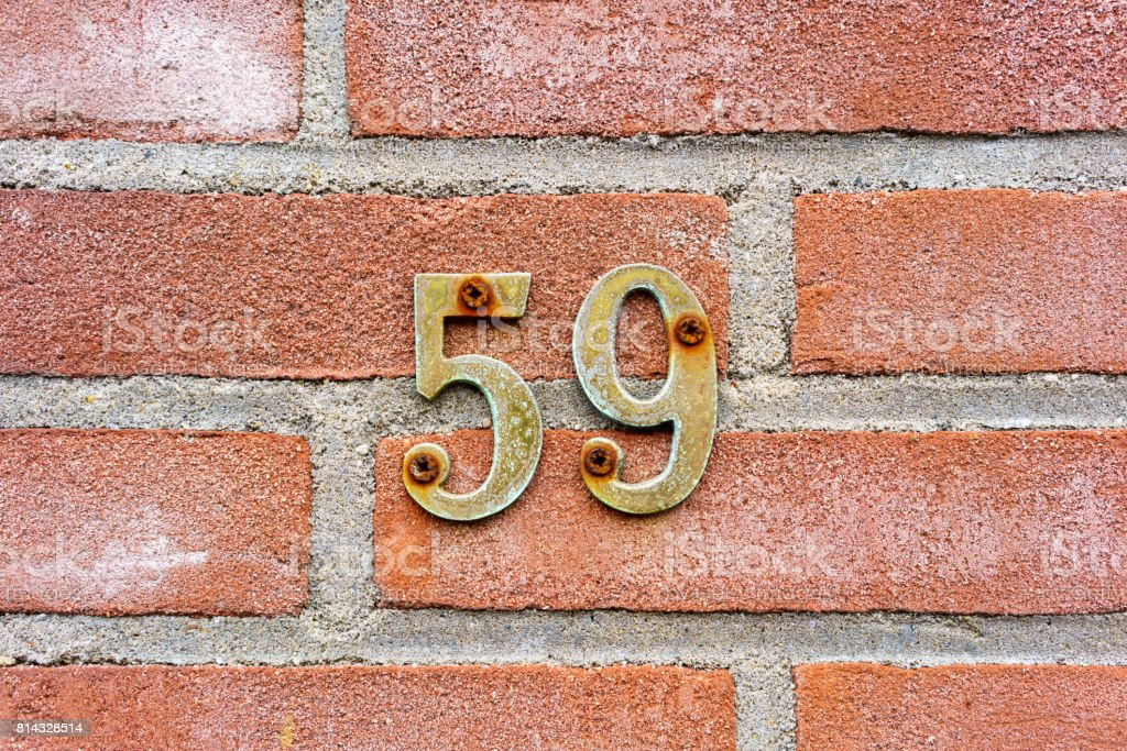 Number 59 stock photo