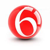 Fotografía de Número 4 Bolas De Rojo Brillante Aislado En Blanco y ... d773961b56ceb