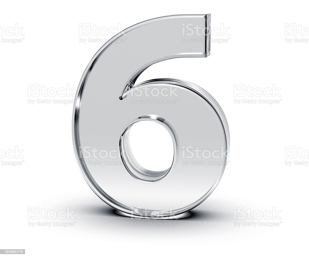 Number 6 stock photo