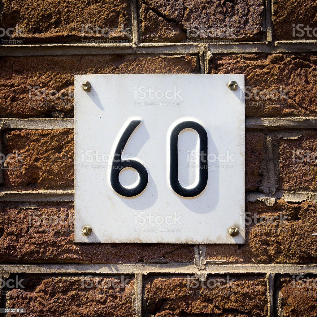 Number 60 stock photo