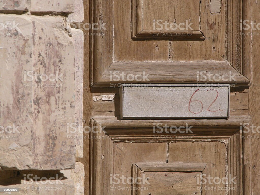 Number 62 royalty-free stock photo