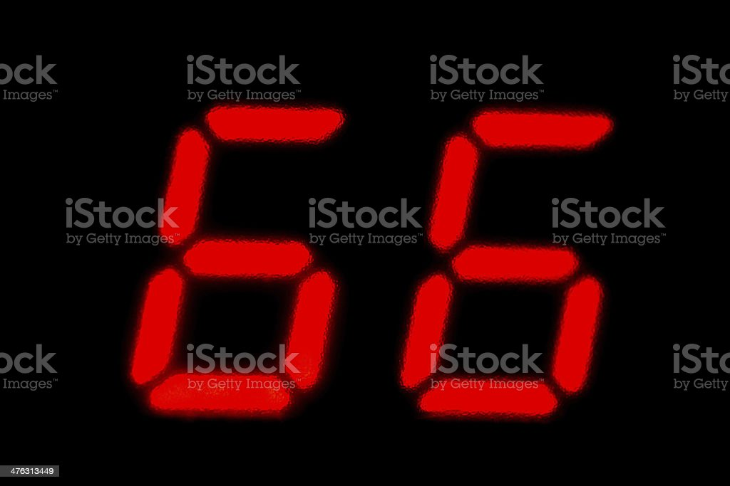 number 66 stock photo