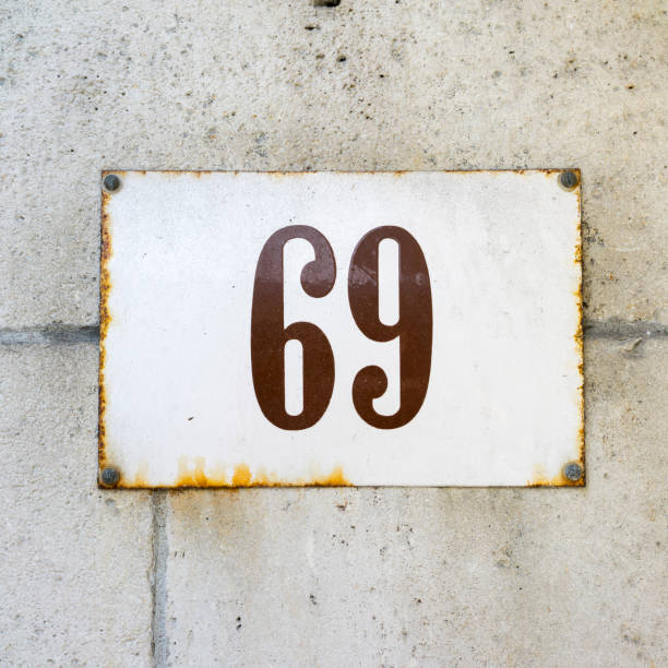 number 69 - enamel stock photos and pictures