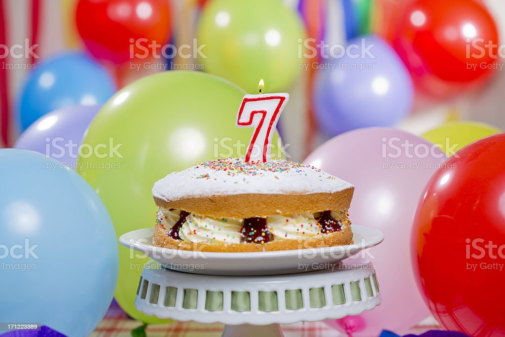 Number 7 Birthday Cake Stock Photo More Pictures Of Baked Pastry