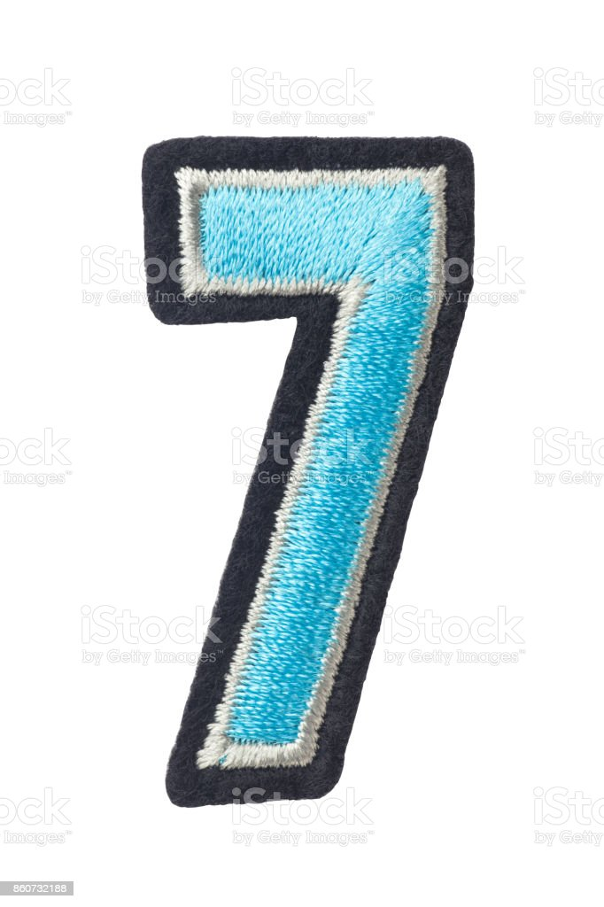 Number 7 of thread stock photo
