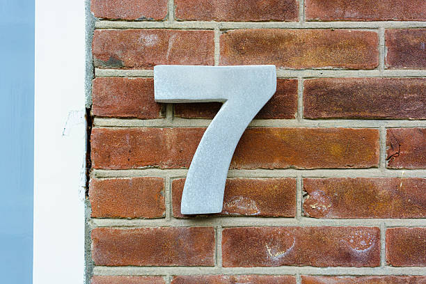 number 7 stock photo