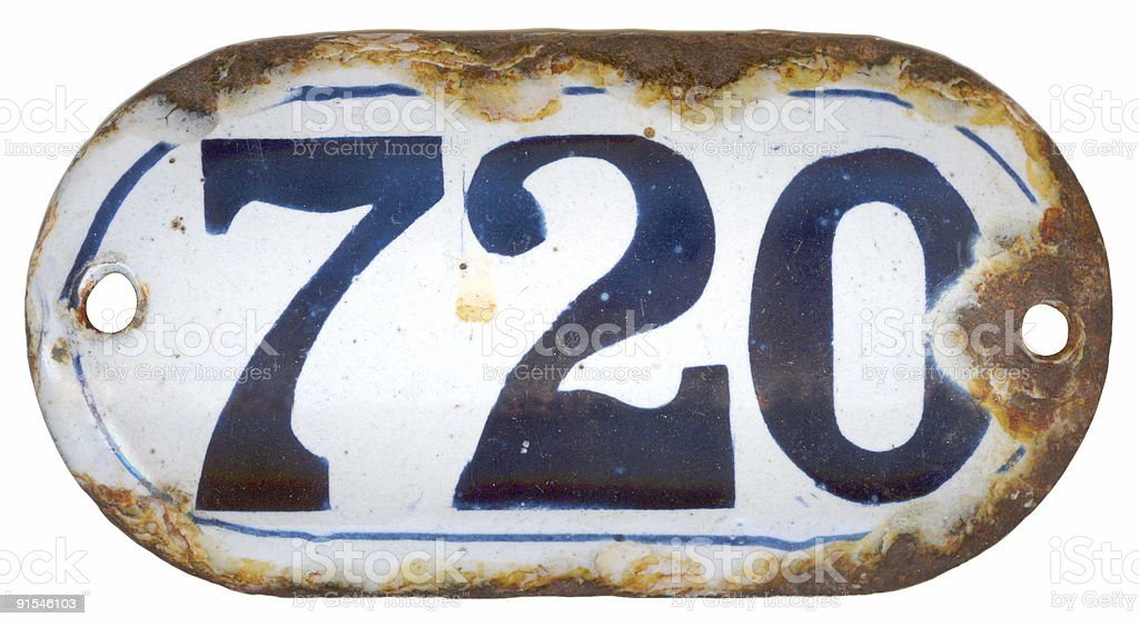 Number 720 royalty-free stock photo