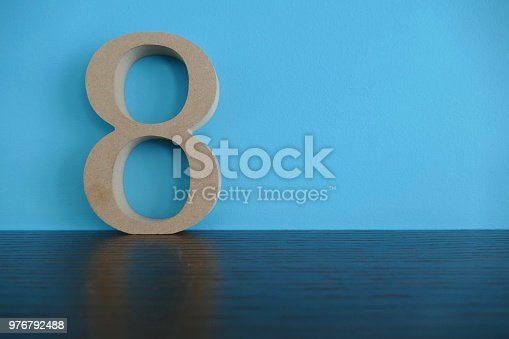 Year 2019 in wooden numbers