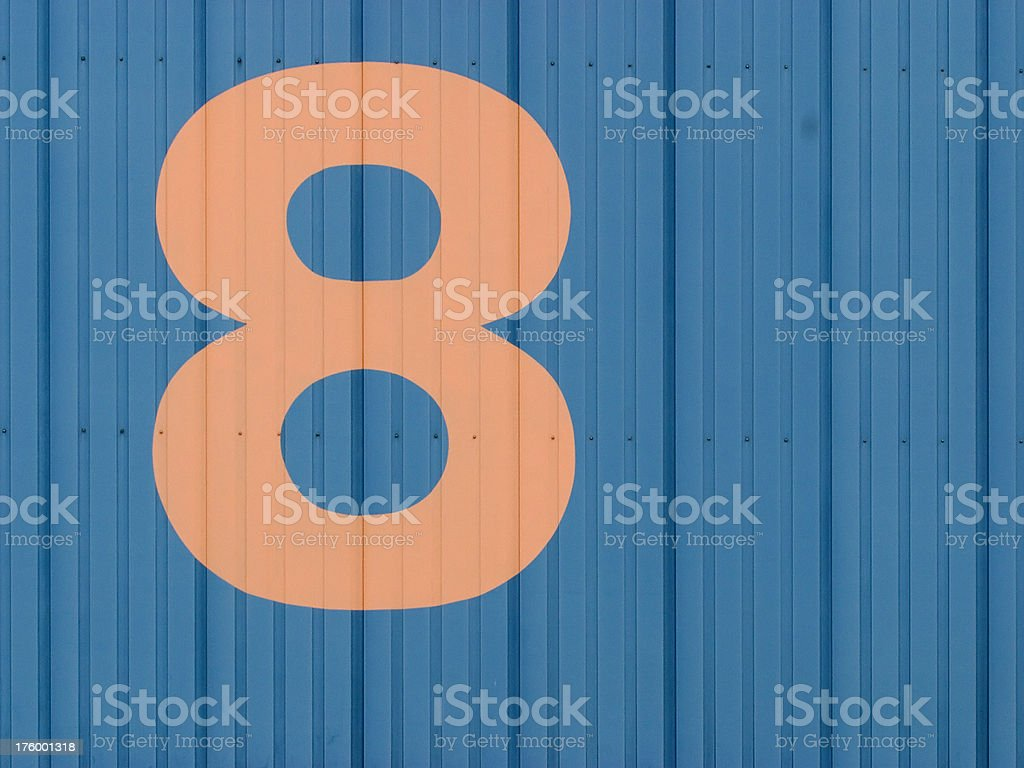 Number 8 royalty-free stock photo