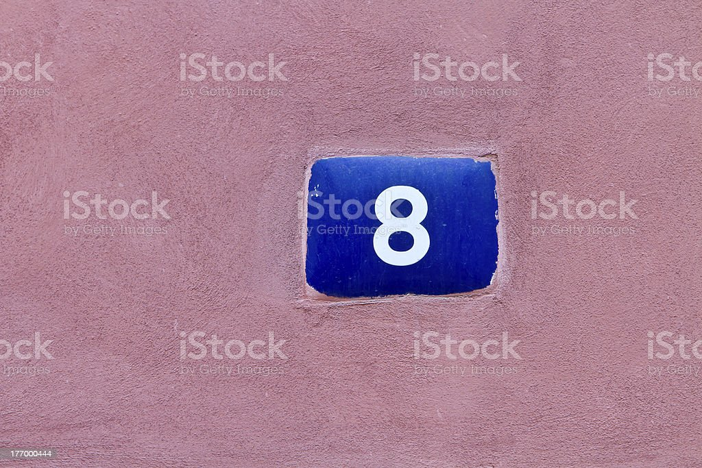 Number 8 sign stock photo