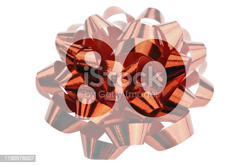istock Number 80 highlighted in front of a closeup. Photograph of a red gift bow 1150576507