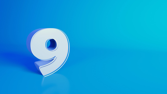 3D illustrated number image