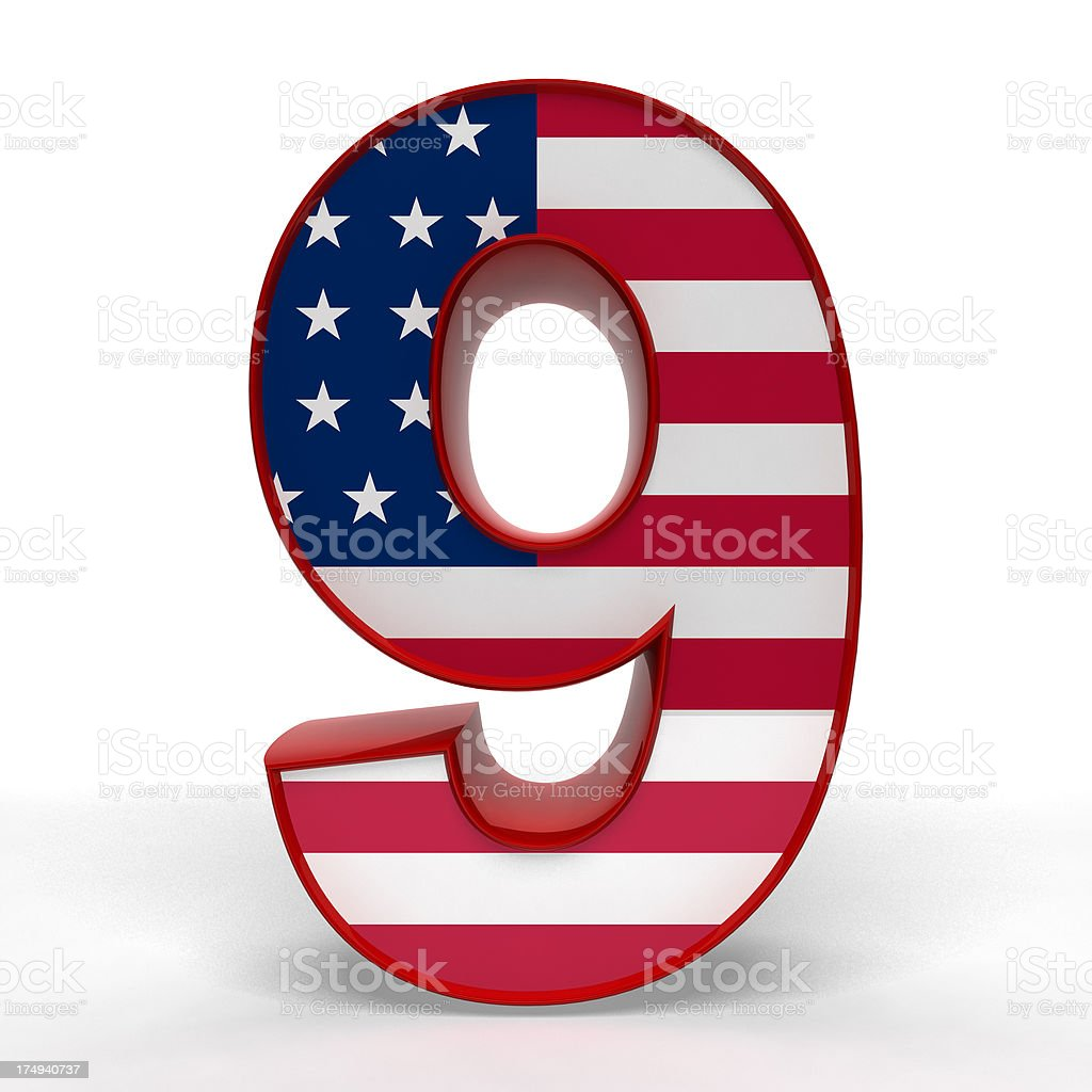 number 9 royalty-free stock photo