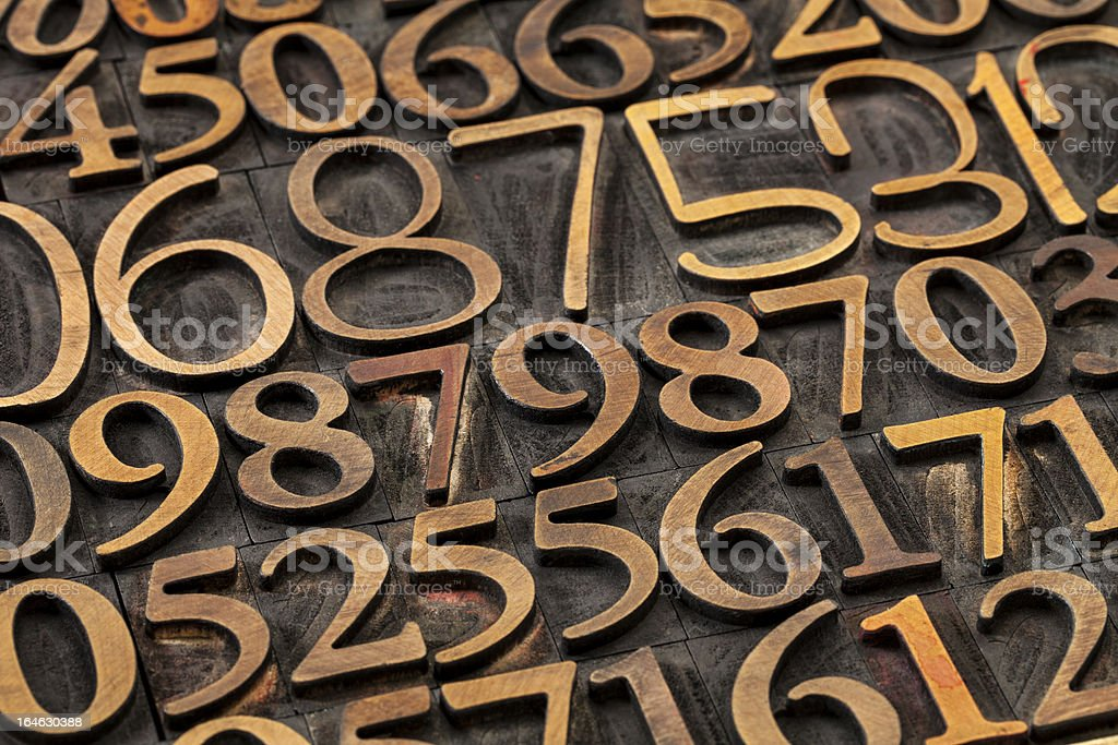 number abstract royalty-free stock photo