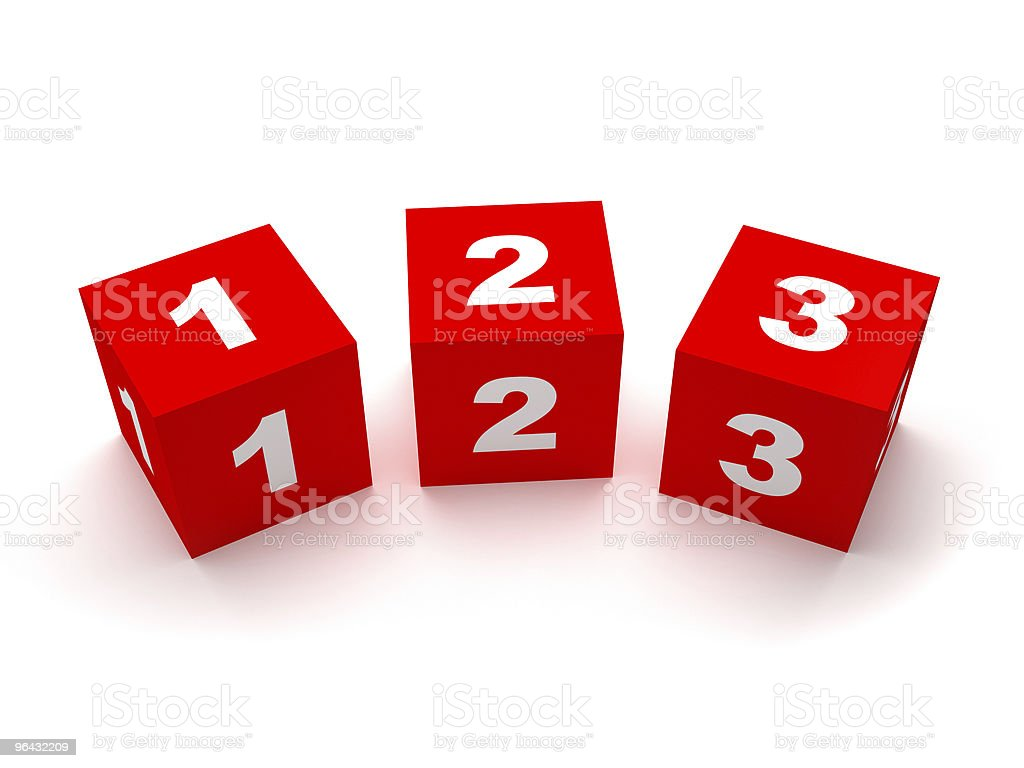 Number Blocks royalty-free stock photo