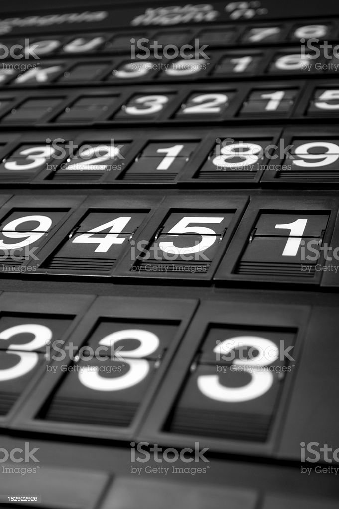 Number board royalty-free stock photo