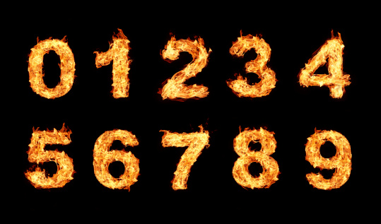 istock number Burning fire collection 450669097