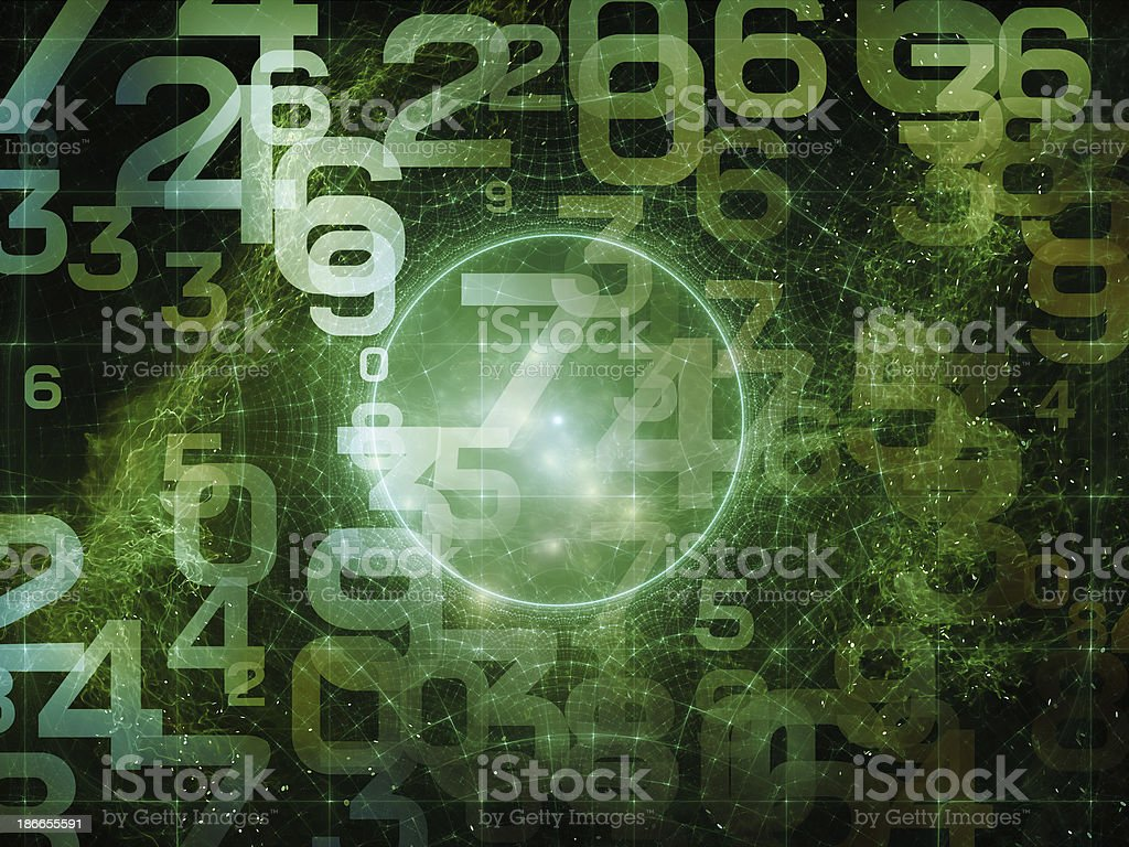 Number Composition stock photo
